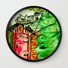 Outhouse Sentinel Wall Clock