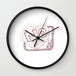 Learn to say NO Wall Clock