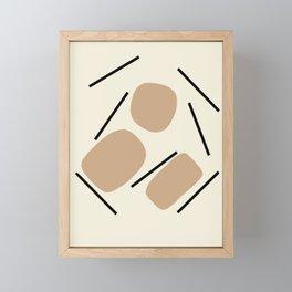 Simple Mid-Century Line Art #3 Framed Mini Art Print