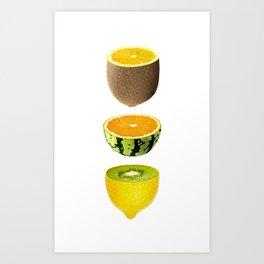 Mixed Fruits Art Print