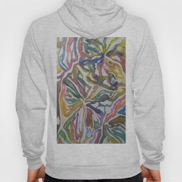 Abstract Flowers Watercolor Painting Hoody