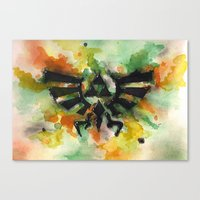 triforce Canvas Prints featuring Triforce by Fernanda Frasson