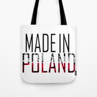 poland Tote Bags featuring Made In Poland by VirgoSpice