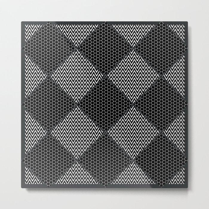 Black and White Patterns Metal Print