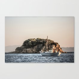 Skiathos Island fishing boat Canvas Print