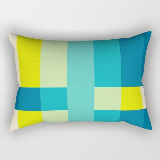 colored stripes 04 Rectangular Pillow