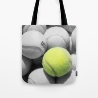 tennis Tote Bags featuring TENNIS. by TMCdesigns