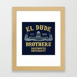 The Peep Show - El Dude Brothers Framed Art Print