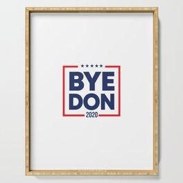 Biden 2020 Bye Don Vintage Funny Joe Biden Serving Tray