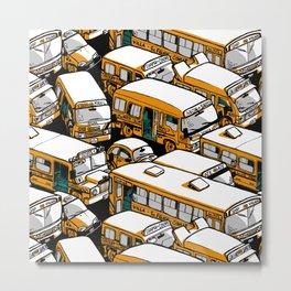 Buses Metal Print