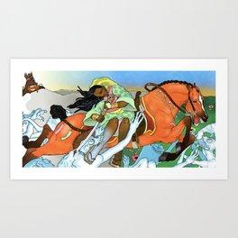 Priestess of Spring Art Print