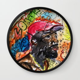 sonder son,brent faiyaz,poster,art,wall art,decor,music,rnb,lyrics,colourful,colorful,cool,dope,post Wall Clock