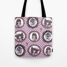 Masquerade cameo girls Tote Bag