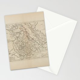 A map of Abyssinia and Nubia Stationery Cards
