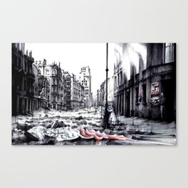 THE DEATH OF WARSAW Canvas Print