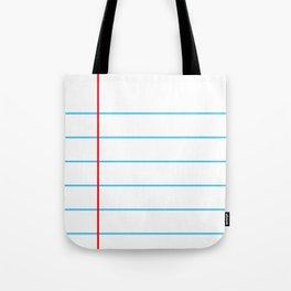 Notebook Paper Tote Bag