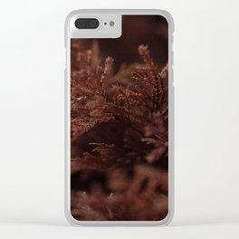 Red Winter Leaves, Georgia Forest Clear iPhone Case