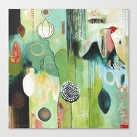 """flora bowley Canvas Prints featuring """"Fly Home"""" Original Painting by Flora Bowley by Flora Bowley"""