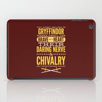 gryffindor iPad Cases featuring Gryffindor by Dorothy Leigh