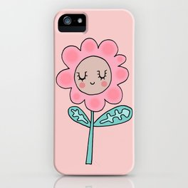 Rose quartz flower iPhone Case