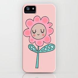 Rose quartz flower iPhone Case