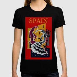 Vintage Spain Travel Poster - Dancers T-shirt
