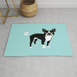 Boston Terrier funny fart dog pure breed gifts dog lovers Rug