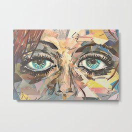 Shattered Stare Metal Print