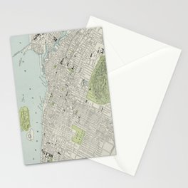 Vintage Map of Montreal (1901) Stationery Cards
