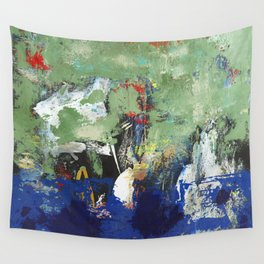 Finback Abstract Blue Green Wall Tapestry