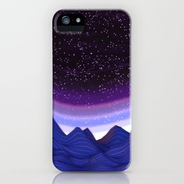 Mountains in Space iPhone Case