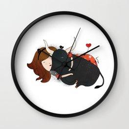 Embrace the Bull Wall Clock