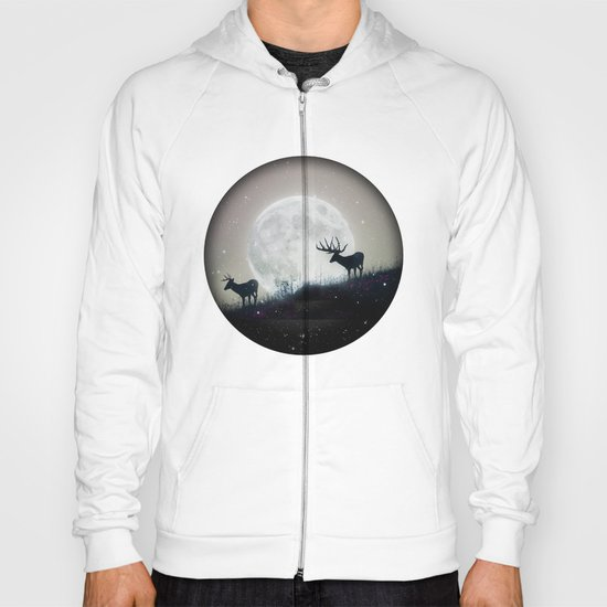 blue moon rising Hoody