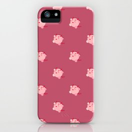 The cutest evil demon ever! pattern iPhone Case