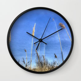 Lake Grass Abstract Wall Clock