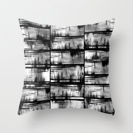 How Many Gray Lines (1) Throw Pillow