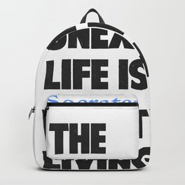 Socrates quote Backpack