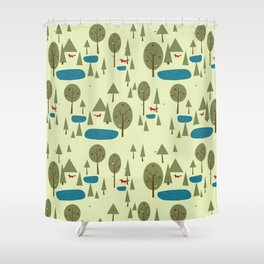 Fox in the Forest Shower Curtain