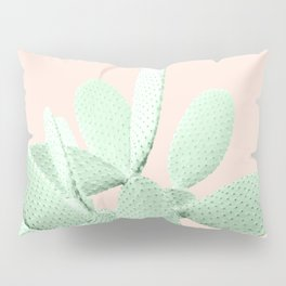 Green Blush Cactus #1 #plant #decor #art #society6 Pillow Sham