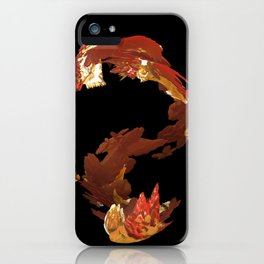 Spiral Flames iPhone Case