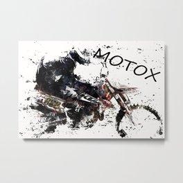 Motox Racer Metal Print
