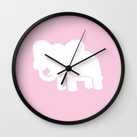 custom Wall Clocks featuring Custom Lillian by The Minted Pearl