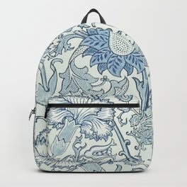 William Morris Beautiful floral pattern, blue,rose,william Morris pattern, art nouveau pattern Backpack