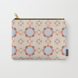 Blue Retro Tile Carry-All Pouch