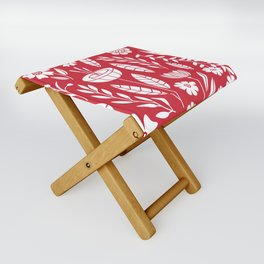 Blooming field - red Folding Stool