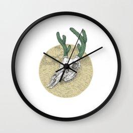 Deer Cactus Wall Clock