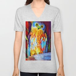Barking Owl Unisex V-Neck