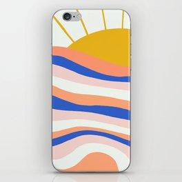 sunrise surf iPhone Skin