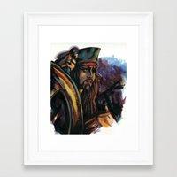 jack sparrow Framed Art Prints featuring Cap'n Jack Sparrow by TammyWitzens
