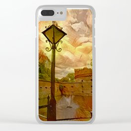 Old fort in the city of Kaliningrad Clear iPhone Case